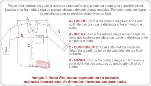 b182f0a8b2 Resposta  Para descobrir o tamanho ideal siga o exemplo abaixo e confira na  página do próprio produto o resultado das medidas na aba Medidas