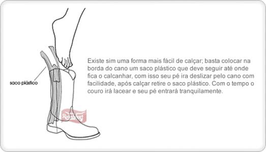 ... couro é mais gelatinoso o que dificulta a entrada de seu pé 7c8310e820e