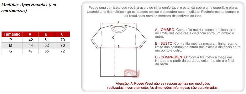 58f115dd5d1e4 Camiseta Masculina Branca Estampada - Nelore 17484 - Rodeo West
