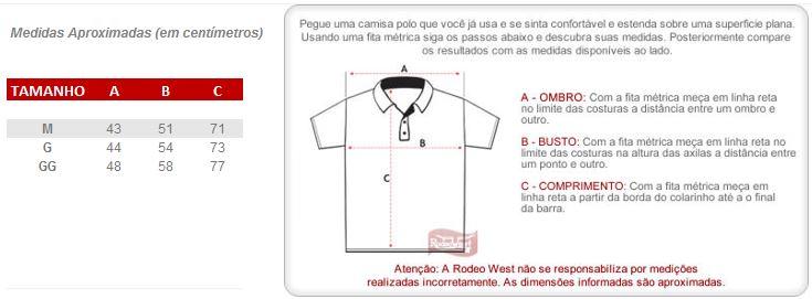 Camisa Gola Polo Vermelha PBR Masculina 20205 - Rodeo West 23a6094eb45