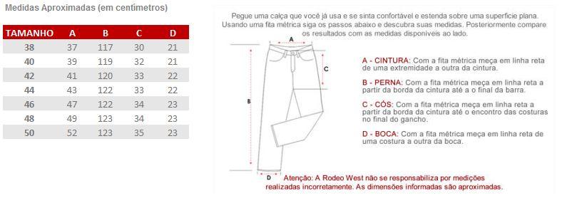 Calça Jeans Masculina Clara Fast Back 20389 - Rodeo West 6f8c88998df