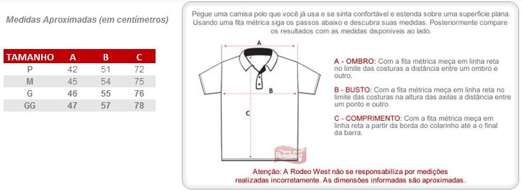 d09ad22a2 Polo Masculina Branca Wrangler 22066 - Rodeo West